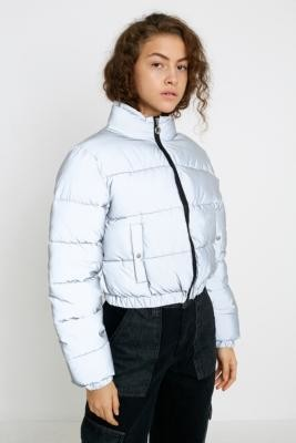Fila UO Exclusive Cassandra Reflective Puffer Jacket - silver XS at Urban Outfitters