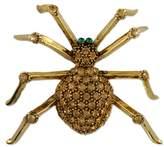 Nobrand No Brand CRYSTAL HALLOWEEN SPIDER BROOCH PIN MADE WITH SWAROVSKI ELEMENTS