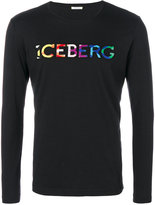 Iceberg rainbow colour logo T-shirt