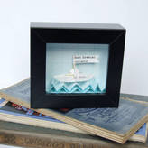 Made In Words Little Personalised Paper Boat Artwork