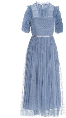 Self-Portrait Polka-Dot Tulle Midi Dress