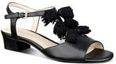Nine West 'Daelyn' Tassel T-Strap Sandal (Women)