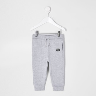 River Island Mini boys Grey RIR printed joggers