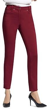 Basler Straight-Leg Jeans in Burgundy
