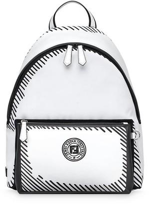 Fendi Logo Print Backpack