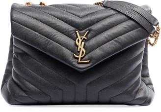 Saint Laurent Loulou Medium Pebbled Leather Flap-Top Shoulder Bag