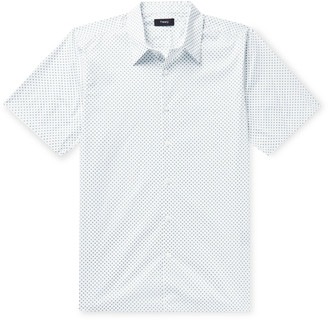 Theory Irving Slim-Fit Printed Stretch-Cotton Poplin Shirt - Men