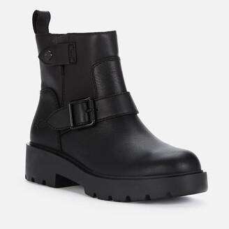 UGG Women's Saoirse Waterproof Leather Biker Boots