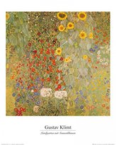 Gustav 1art1 Posters Klimt Poster Art Print - Cottage Garden With Sunflowers, 1905-06 (20 x 16 inches)