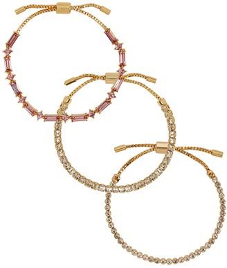 BaubleBar Lustre Gold-plated Bracelets - Set Of Three