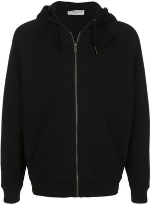 Givenchy Signature Logo Zip-Up Hoodie