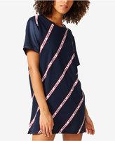 adidas Striped Boyfriend T-Shirt Dress