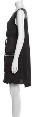 Anna Sui Scoop Neck Mini Dress Black