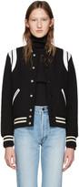 Saint Laurent Black Teddy Bomber Jacket