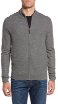 Nordstrom Men's Big & Tall Honeycomb Zip Sweater