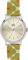 Orla Kiely OK2035 Patricia leather and stainless steel watch