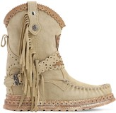 EL VAQUERO 70MM ARYA FRINGED LEATHER BOOTS