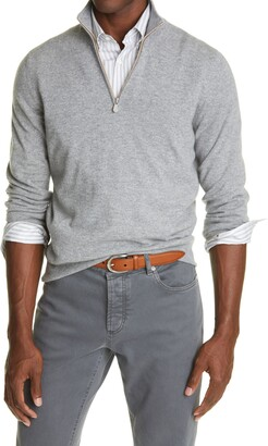 Brunello Cucinelli Quarter Zip Cashmere Pullover