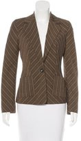 Piazza Sempione Striped Wide Lapel Blazer