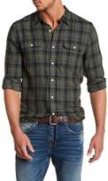 Lucky Brand Clean Plaid Two Pocket Classic Fit Shirt