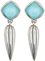 Lagos Sterling Silver Turquoise Crystal Fluted Drop Earrings