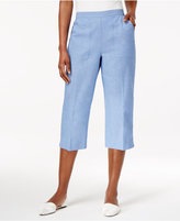 Alfred Dunner Long Weekend Pull-On Capri Pants