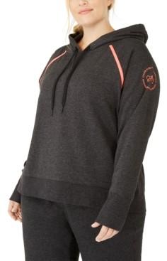 Calvin Klein Plus Size Raglan-Sleeve Hoodie
