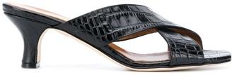 Paris Texas Crocodile Effect 65mm Sandals