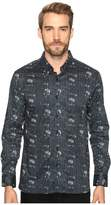 7 Diamonds Etched Out Long Sleeve Shirt