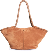 The Row Market braided-handle suede tote