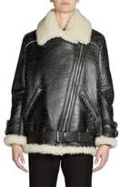 Acne Studios Shearling & Leather Oversized Vintage Moto Jacket
