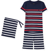 Ralph Lauren 2-7 Striped Cotton Sleep Short Set