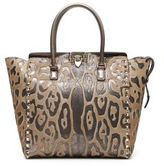 Valentino Leopard Print Double-Handle Bag