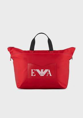 Emporio Armani Weekend Bag In Technical Fabric With Contrasting Strap