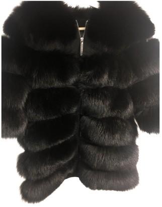 Philipp Plein Black Rabbit Coat for Women