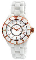 Peugeot Women's Swiss Ceramic Swarovski White Dial Watch