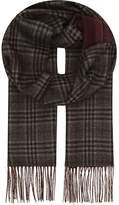 Canali Prince Of Wales Check Silk & Cashmere Scarf