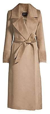 Sentaler Women's Notch Collar Wrap Coat