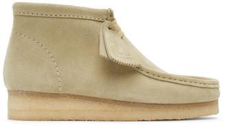 Clarks Beige Suede Wallabee Desert Boots