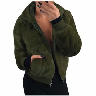 Celucke Women's Casual Jacket Coat Winter Warm Outwear Blouse Ladies Overcoat Outercoat Army Green