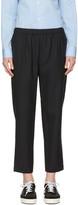 Comme des Garcons Navy Pinstripe Trousers