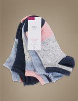 Marks and Spencer 5 Pair Pack Colour Block Trainer Liner Socks
