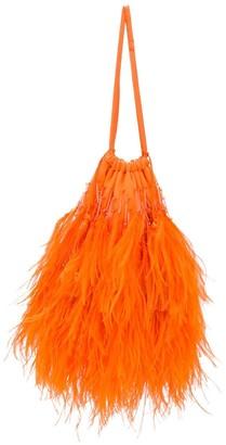 ATTICO Greta feather embellished clutch