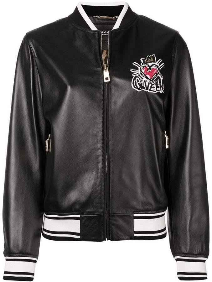 Dolce & Gabbana embroidered bomber jacket