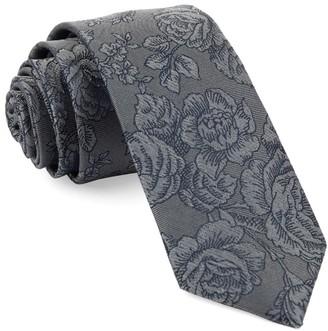 Tie Bar Ritz Floral Grey Tie