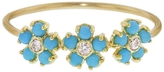 Jennifer Meyer Turquoise and Diamond Flower Trio Ring