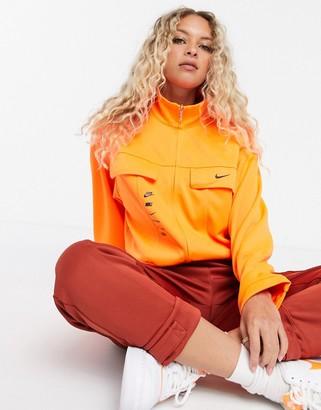 Nike swoosh track jacket in orange