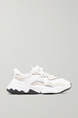 adidas Ozweego Suede And Neoprene-trimmed Mesh Sneakers - Off-white