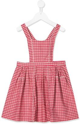 Caramel Donnington pinafore dress