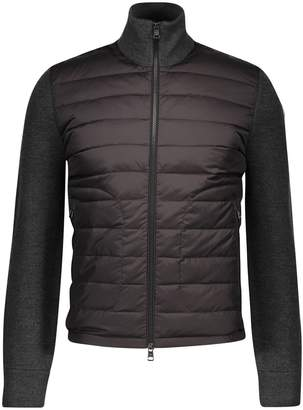Moncler Double material hooded cardigan
